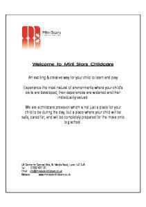 Welcome to Mini Stars Childcare