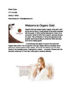 Welcome to Organo Gold