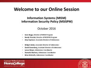 Welcome to our Online Session