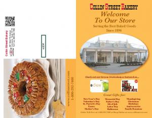Welcome To Our Store. Serving the Best Baked Goods Since Great Gifts for: Collin Street Bakery
