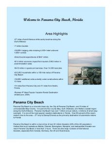 Welcome to Panama City Beach, Florida