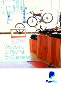 Welcome to PayPal for Business
