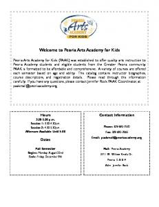 Welcome to Peoria Arts Academy for Kids