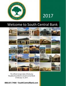 Welcome to South Central Bank