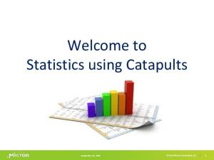 Welcome to Statistics using Catapults