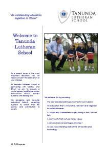 Welcome to Tanunda Lutheran School