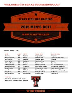 welcome to texas tech men s golf