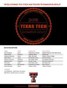 welcome to texas tech women s golf