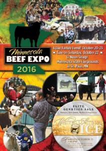 Welcome to the 2016 Minnesota Beef Expo! Thank You MN Beef Expo Sale Sponsors!