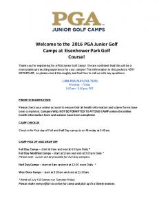Welcome to the 2016 PGA Junior Golf Camps at Eisenhower Park Golf Course!