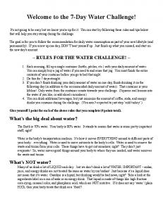 Welcome to the 7-Day Water Challenge!