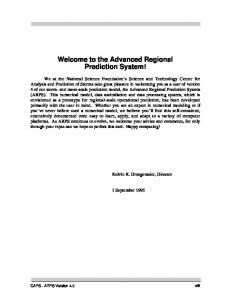 Welcome to the Advanced Regional Prediction System!