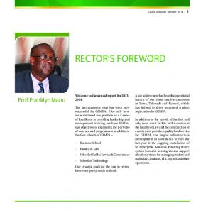 Welcome to the annual report for