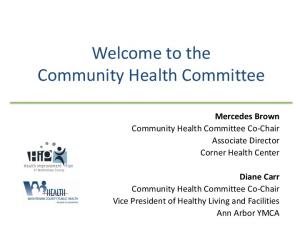 Welcome to the Community Health Committee