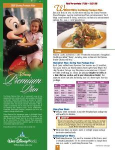 Welcome to the Disney Premium Plan