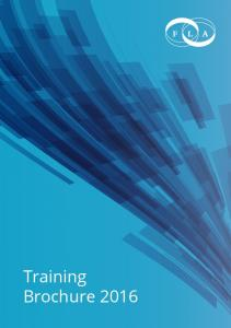 Welcome to the FLA s Training Brochure 2016