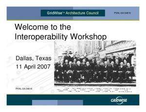 Welcome to the Interoperability Workshop