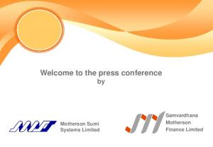 Welcome to the press conference by