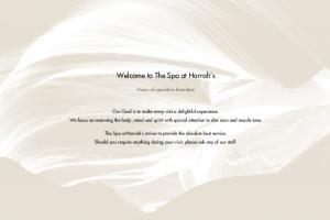 Welcome to The Spa at Harrah s