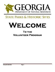 Welcome To the Volunteer Program