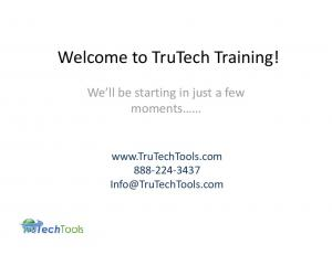 Welcome to TruTech Training!