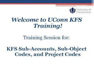 Welcome to UConn KFS Training!