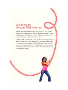 Welcome to Verizon FiOS Internet