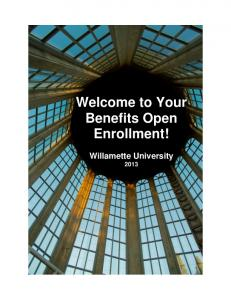 Welcome to Your Benefits Open Enrollment!