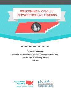 WELCOMING NASHVILLE: PERSPECTIVES AND TRENDS