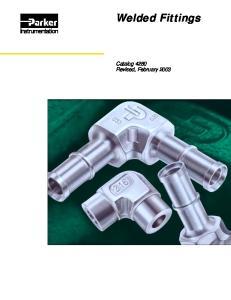Welded Fittings. Catalog 4280 Revised, February 2003