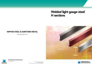 Welded light gauge steel H sections