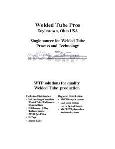 Welded Tube Pros Doylestown, Ohio USA
