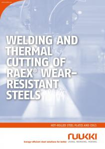 WELDING AND THERMAL CUTTING OF RAEX WEAR- RESISTANT STEELS