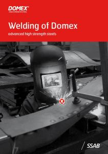 Welding of Domex. advanced high strength steels