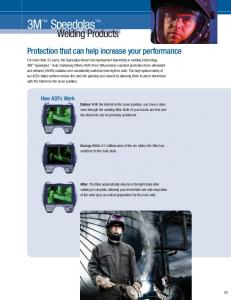 Welding Products. Protection that can help increase your performance
