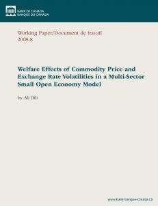 Welfare Effects of Commodity Price and Exchange Rate Volatilities in a Multi-Sector Small Open Economy Model