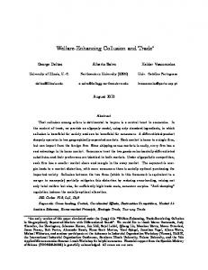 Welfare-Enhancing Collusion and Trade