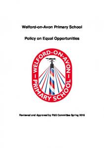 Welford-on-Avon Primary School. Policy on Equal Opportunities