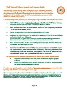 Well Canes Wellness Incentives Program Guide