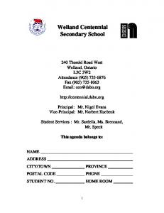 Welland Centennial Secondary School