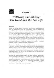 Wellbeing and Illbeing: The Good and the Bad Life