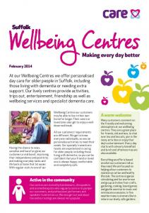 Wellbeing Centres Making every day better