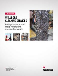 WELLBORE CLEANING SERVICES