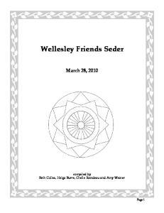 Wellesley Friends Seder