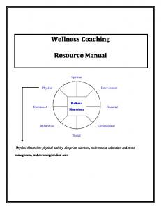 Wellness Coaching. Resource Manual