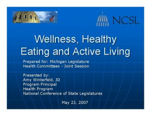 Wellness, Healthy Eating and Active Living