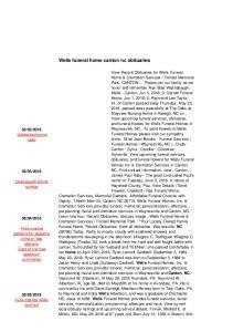 Wells funeral home canton nc obituaries