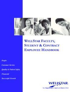 WELLSTAR FACULTY, STUDENT & CONTRACT EMPLOYEE HANDBOOK