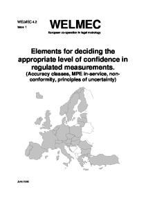 WELMEC European co-operation in legal metrology