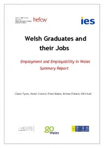 Welsh Graduates and their Jobs